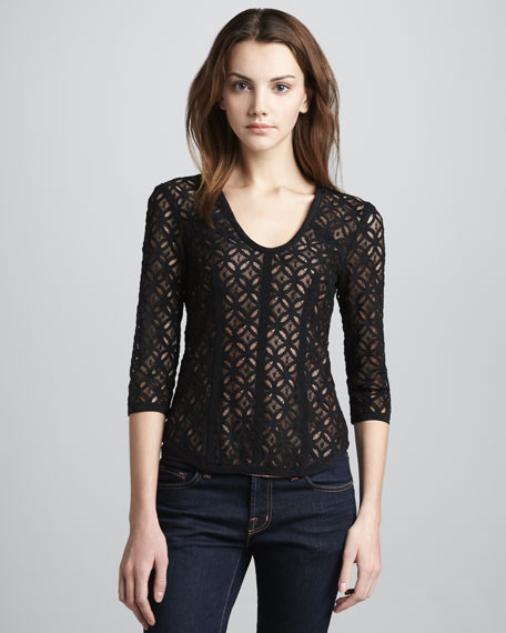 Fillmore Fitted Lace Top