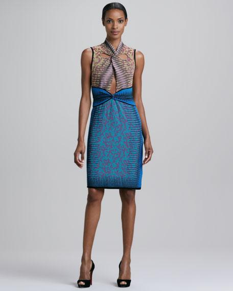 Space Dye Animal-Print Dress