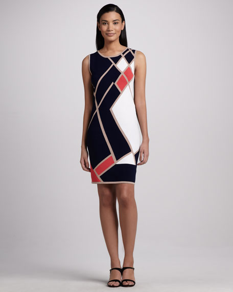 Asymmetric Colorblock Dress