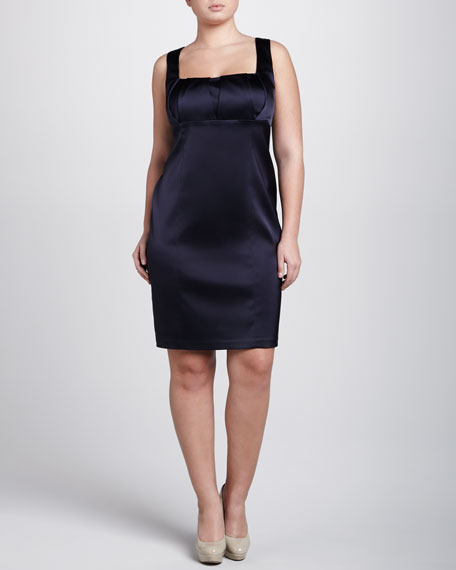 Sleeveless Satin Dress, Women's
