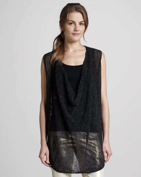 Cristiana Sleeveless Draped Sweater