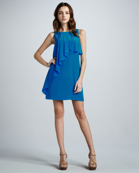 Sleeveless Ruffle-Front Dress