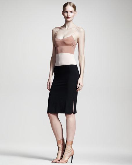 Colorblock Slip Dress