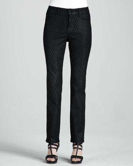 Sheri Geometric Coated Skinny Jeans, Petite