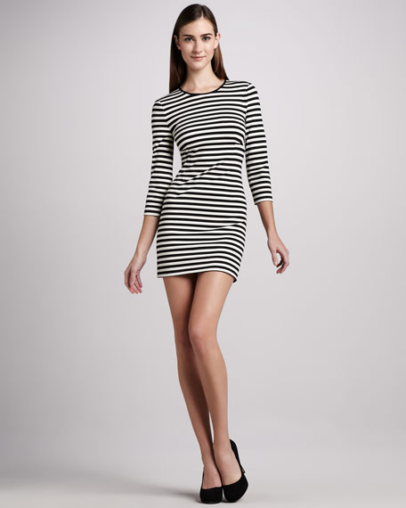 angie striped knit dress