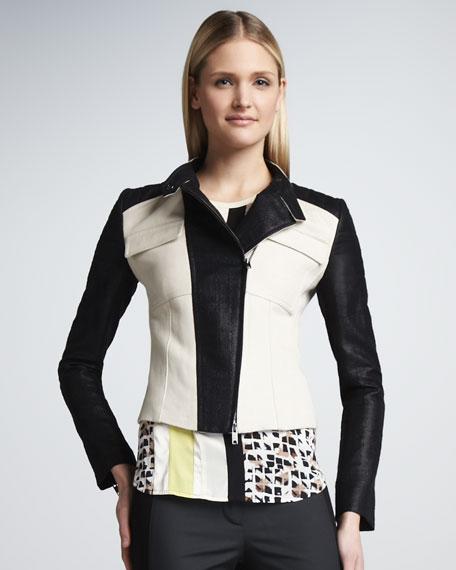 Moto Colorblock Jacket
