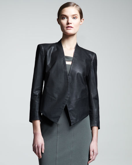 Coated Stretch-Cotton Blazer