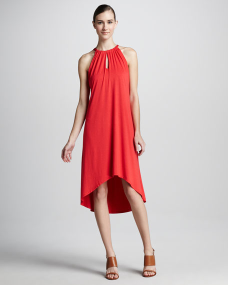 High-Low Drawstring Dress