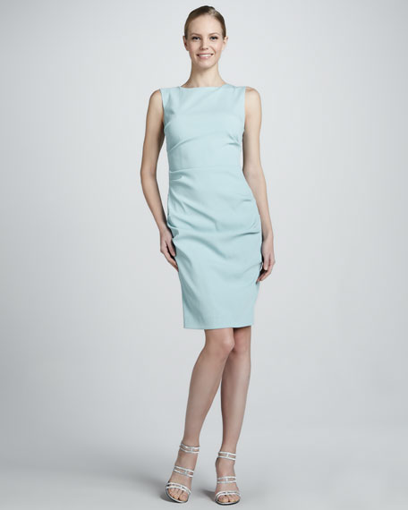 Ruched Sleeveless Cocktail Dress