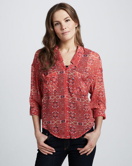 Easy Rider Printed Blouse
