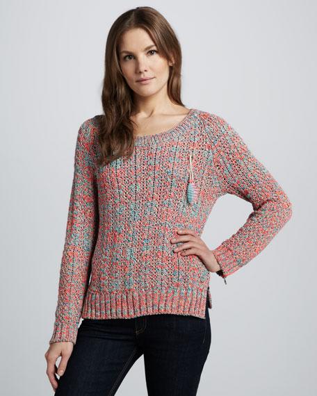 Zipper-Sleeve Sweater
