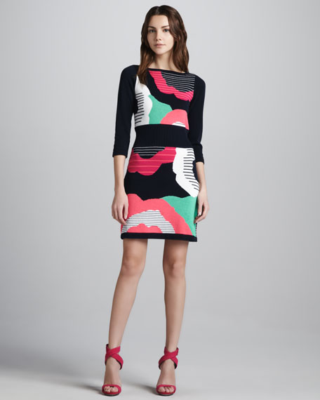 Cartoonist Printed Knit Dress