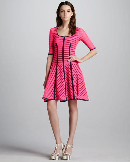 Auction Striped Knit Dress