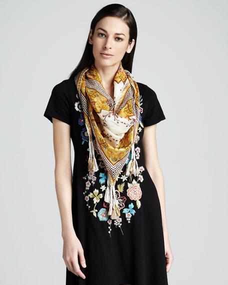 Asia Printed Silk Scarf
