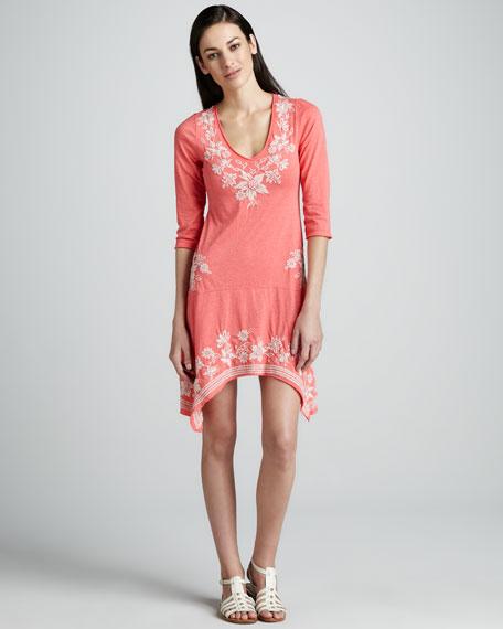 Tess Embroidered Handkerchief Dress