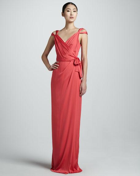 Celina Silk Wrap Gown