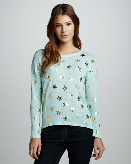 Foiled-Star Sweater