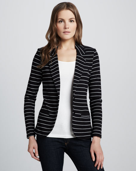 Striped Terry Blazer