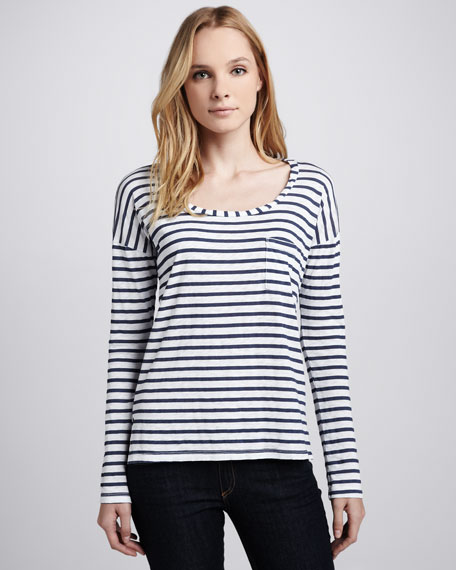 Miami Striped Slub Tee