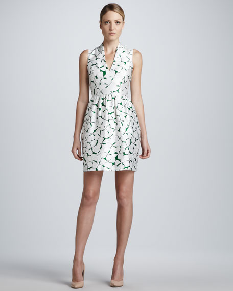 Viola V-Neck Printed Dress