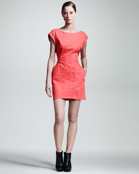 Mineral Cap-Sleeve Minidress