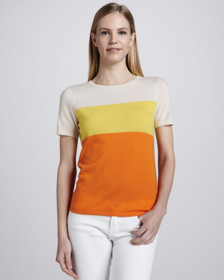 Cashmere Sunny-Striped Top