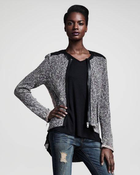 Lory Tweed Zip Jacket