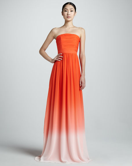 Strapless Ombre Gown