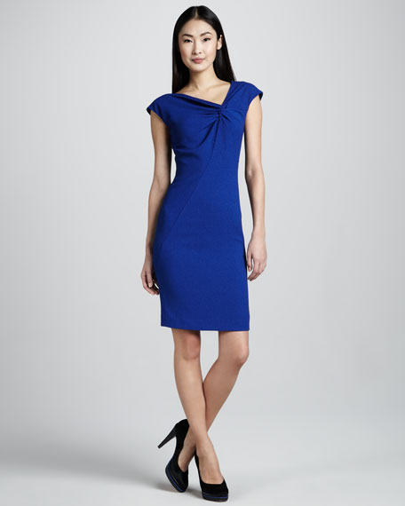Knotted-Bodice Dress
