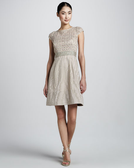 Cocktail Dress with Lace & Sequined Bodice