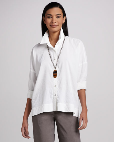 Classic Stretch-Linen Shirt