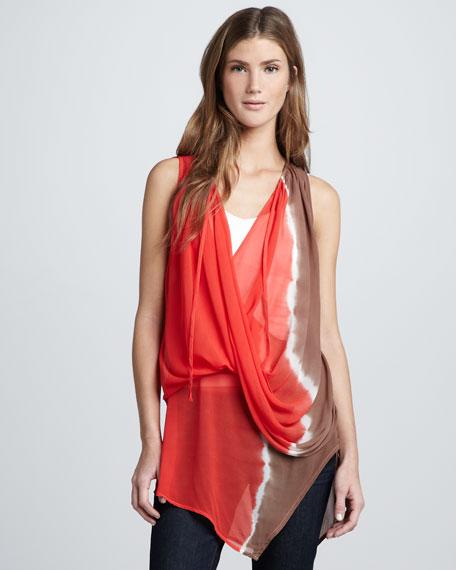 Aura Draped Tie-Dye Top