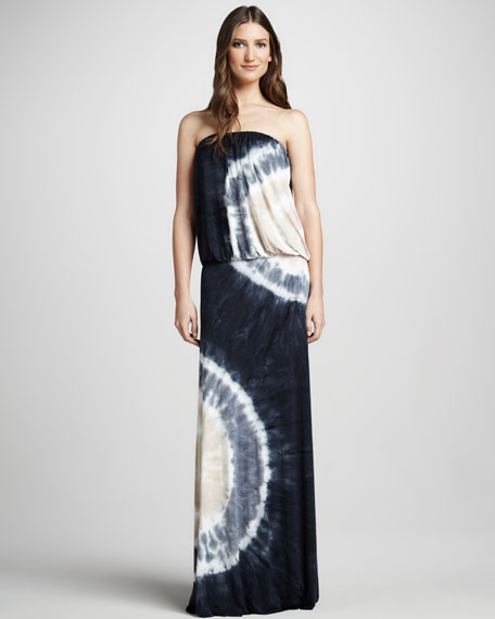 Sydney Tie-Dye Blouson Maxi Dress