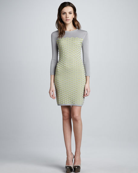Fish Scale Knit Dress