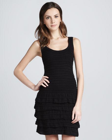Knit Ruffled Tiered Dress