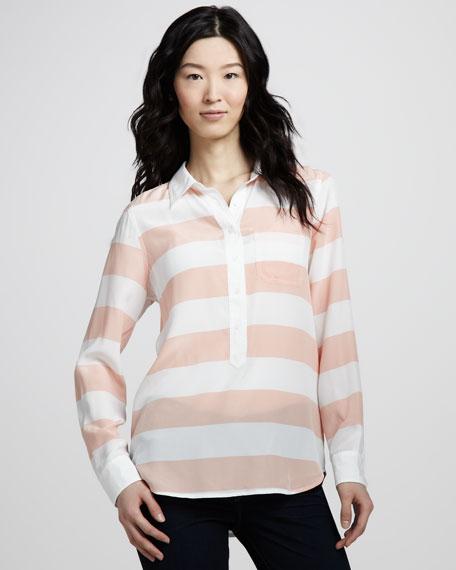 Rugby Stripe Silk Top