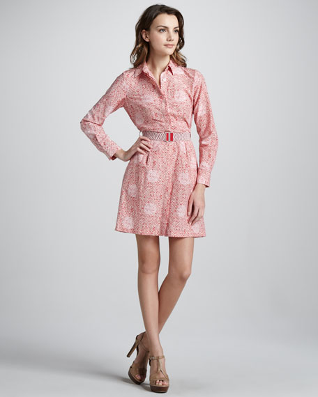 Jamie Dot Printed Shirtdress