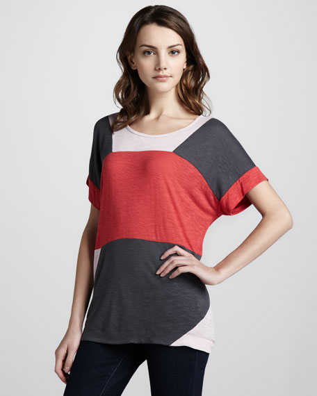 Tanya Colorblock Slub Top