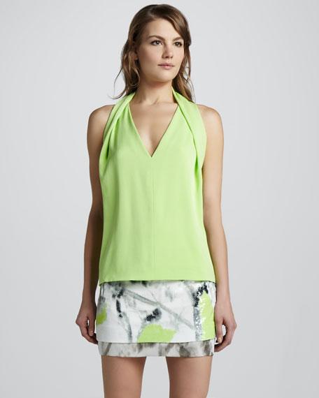 Elley Printed Sequined Skirt