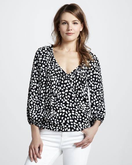 New Cahil Leopard-Print Top