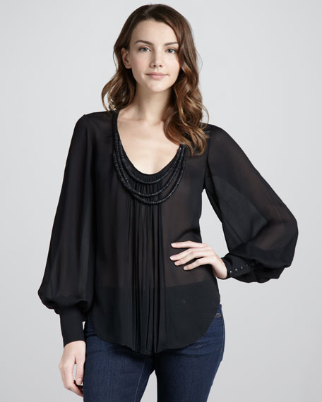 Natalie Necklace Blouse