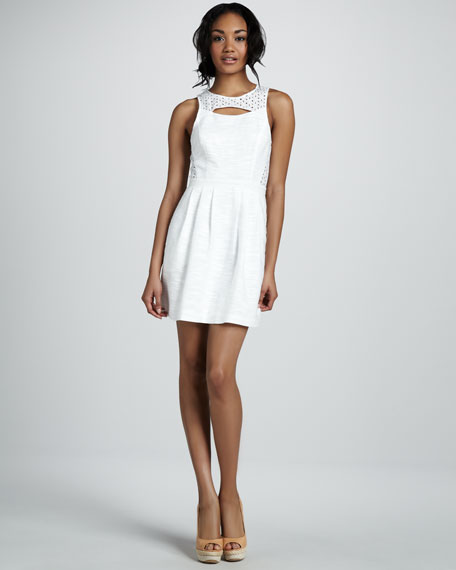 Eyelet Combo Dress