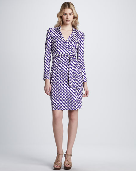 New Jeanne Two Silk Wrap Dress