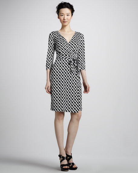 New Julian Two Chain-Print Wrap Dress
