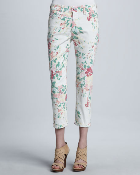 Painted Bouquet Kendall Cuffed Ankle Pants, Women's
