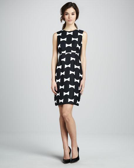 cora bow-print dress