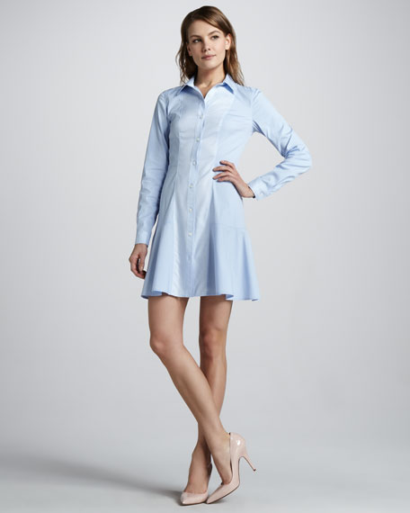 Mareb Flared Shirtdress