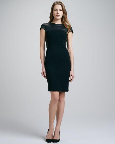 Pryor Leather-Top Dress