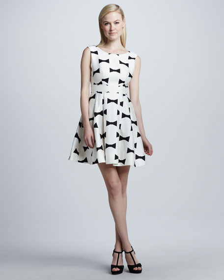 kate spade new york marilyn bow-printed low-back dress