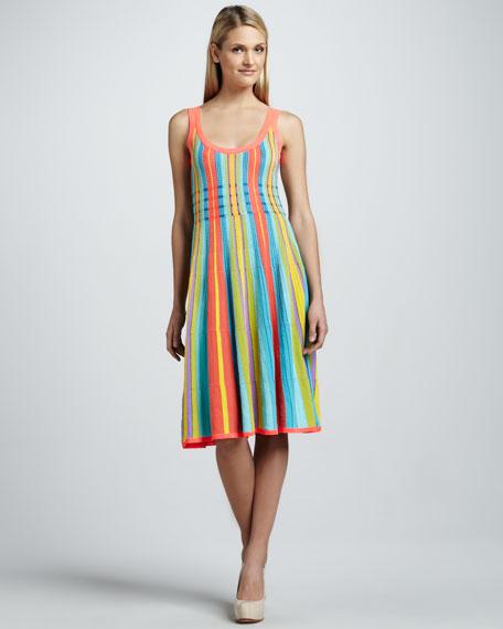 arielle striped sleeveless dress
